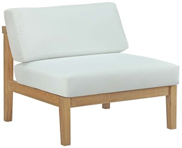 Bayport Outdoor Armless Chair Natural & White