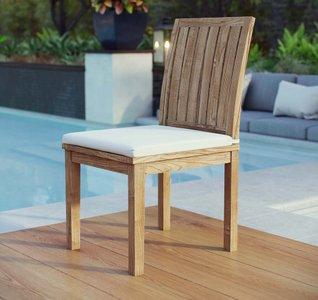 Marina Dining Chair Natural & White