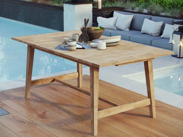 """Dorset 72"""" Outdoor Dining Table Natural"""