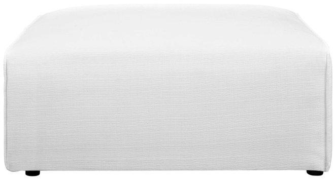 Mingle Ottoman White