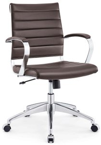 Jive Mid Back Office Chair Brown