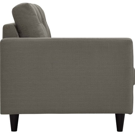 Empress Upholstered Fabric Right Extended Bumper Sectional Granite