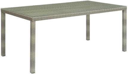 "Conduit 70"" Outdoor Dining Table Light Gray"
