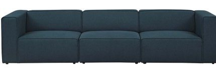 Mingle Upholstered Sectional Sofa Set Blue