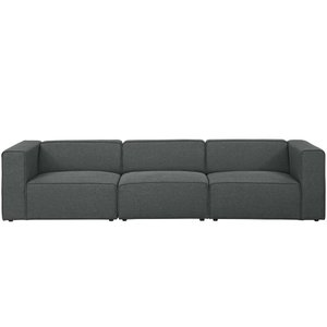 Mingle Upholstered Sectional Sofa Set Gray