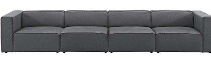 Mingle Upholstered Fabric Sectional Sofa Set Gray