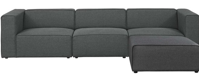 Mingle Upholstered Reversible Sectional Sofa Gray