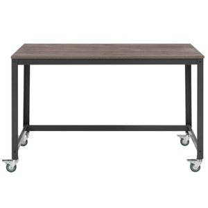 Vivify Computer Office Desk Gray And Walnut