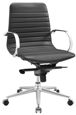 Groove Ribbed Back Office Chair Gray
