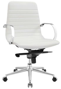 Groove Ribbed Back Office Chair White