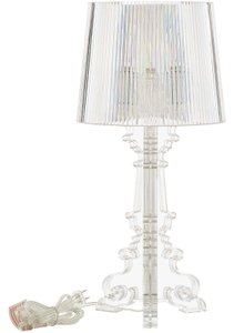 French Petite Acrylic Table Lamp Clear