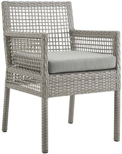 Aura Outdoor Dining Armchair Gray