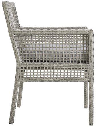Aura Outdoor Dining Armchair Gray