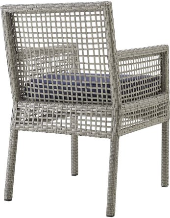 Aura Outdoor Dining Armchair Gray & Navy