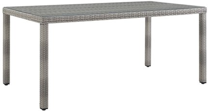 "Aura 68"" Outdoor Dining Table Gray"