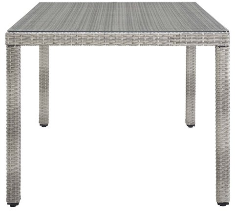 """Aura 68"""" Outdoor Dining Table Gray"""