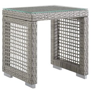 Aura Square Side Table Gray