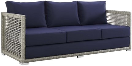 Aura Outdoor Sofa Gray & Navy