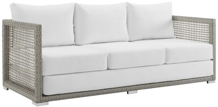 Aura Outdoor Sofa Gray & White