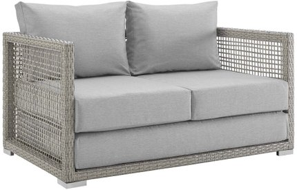 Aura Outdoor Loveseat Gray
