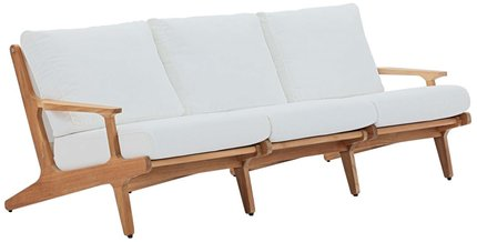 Saratoga Outdoor Sofa Natural & White