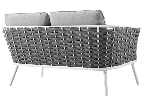 Stance Outdoor Loveseat White & Gray