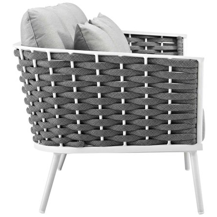 Stance Outdoor Sofa White & Gray