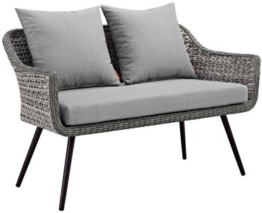 Endeavor Outdoor Loveseat Gray