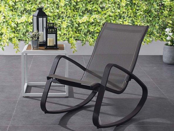 Traveler Rocking Outdoor Sling Lounge Chair Black