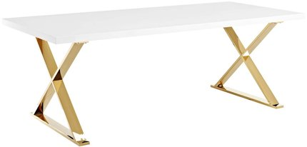Sector Dining Table White And Gold