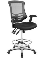 Calibrate Mesh Drafting Chair Black