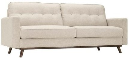 Prompt Upholstered Fabric Sofa Beige