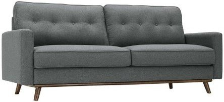 Prompt Upholstered Fabric Sofa Gray