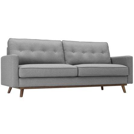 Prompt Upholstered Fabric Sleeper Sofa Light Gray