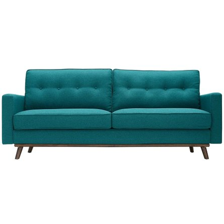 Prompt Upholstered Fabric Sofa Teal