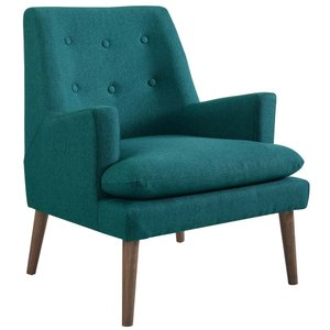 Leisure Upholstered Lounge Chair Teal