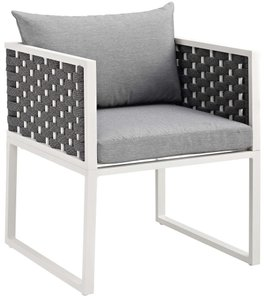 Stance Outdoor Dining Armchair White & Gray