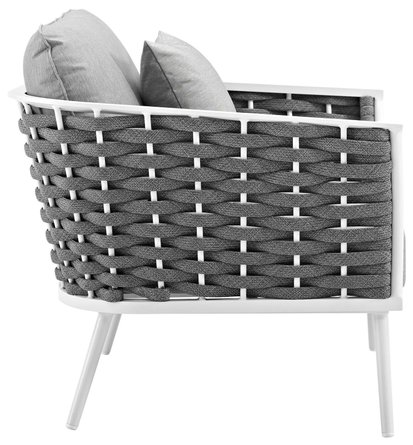 Stance Outdoor Armchair White & Gray