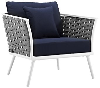 Stance Outdoor Armchair White & Navy