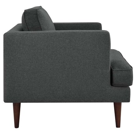 Agile Upholstered Fabric Armchair Gray