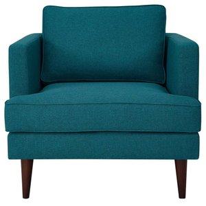 Agile Upholstered Fabric Armchair Teal