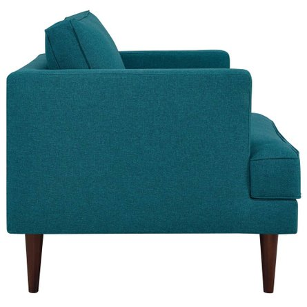 Agile Upholstered Fabric Armchair Teal