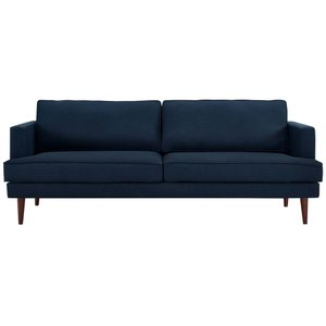 Agile Upholstered Fabric Sofa Blue