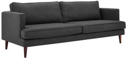 Agile Upholstered Fabric Sofa Gray