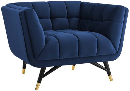 Adept Armchair Midnight Blue & Black