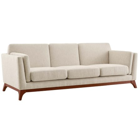 Chance Upholstered Fabric Sofa Beige