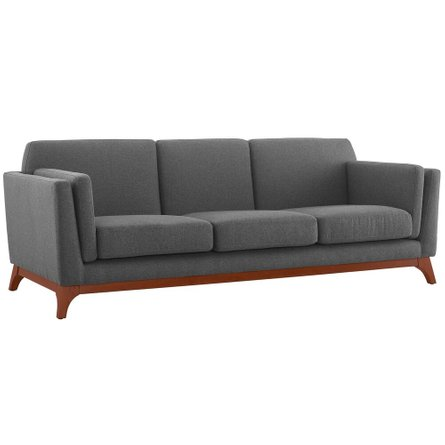 Chance Upholstered Fabric Sofa Gray