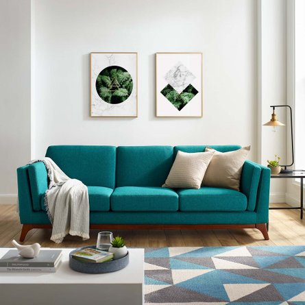 Chance Upholstered Fabric Sofa Teal