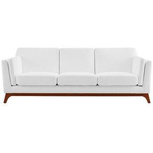 Chance Upholstered Fabric Sofa White