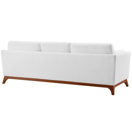 Chance Upholstered Fabric Sofa White
